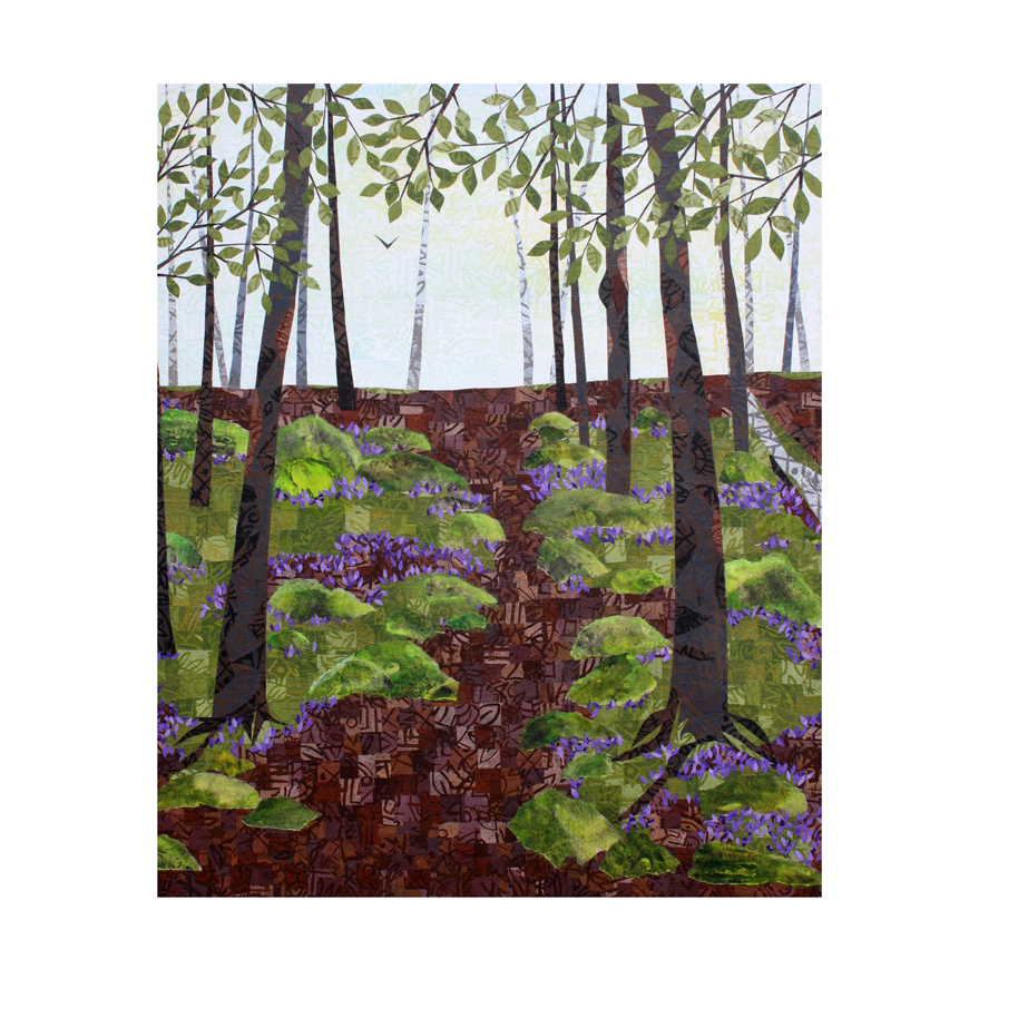 Forest Path. Layered paper collage. Original available  here  (if it doesn't sell at the Winthrop Sidewalk Art Festival on August 19, 2017.