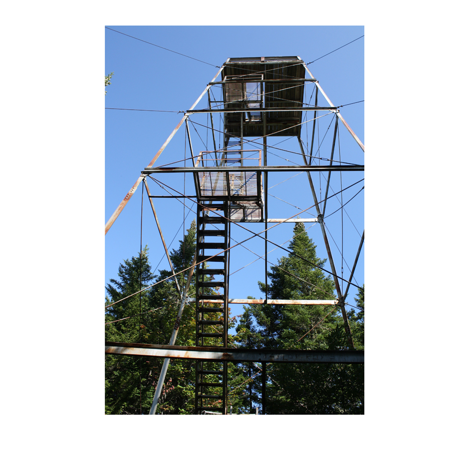 Fire tower on top of Mt. Kineo.
