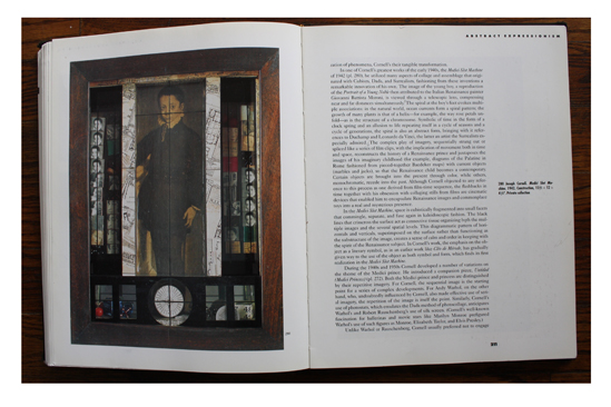 Left: Medici Slot Machine (1942) by Joseph Cornell in Collage, Assemblage, and the Found Object.