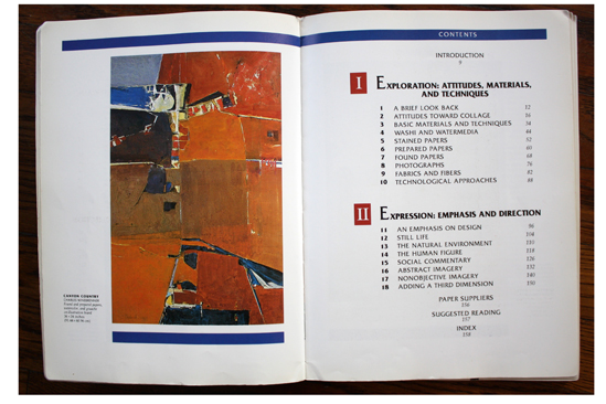 Left: Canyon Country by Charles Winebrenner in Collage Techniques: A Guide for Artists and Illustrators