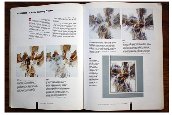 Instruction and samples of A Basic Layering Process in Collage Techniques: A Guide for Artists and Illustrators