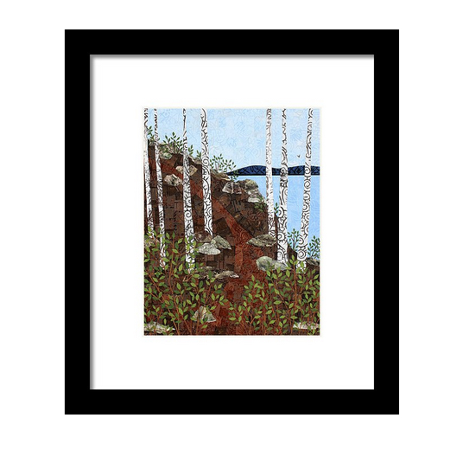Path by the Lake Framed Print.jpg