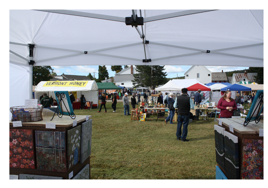 Harvest Market (2016). View from my booth.