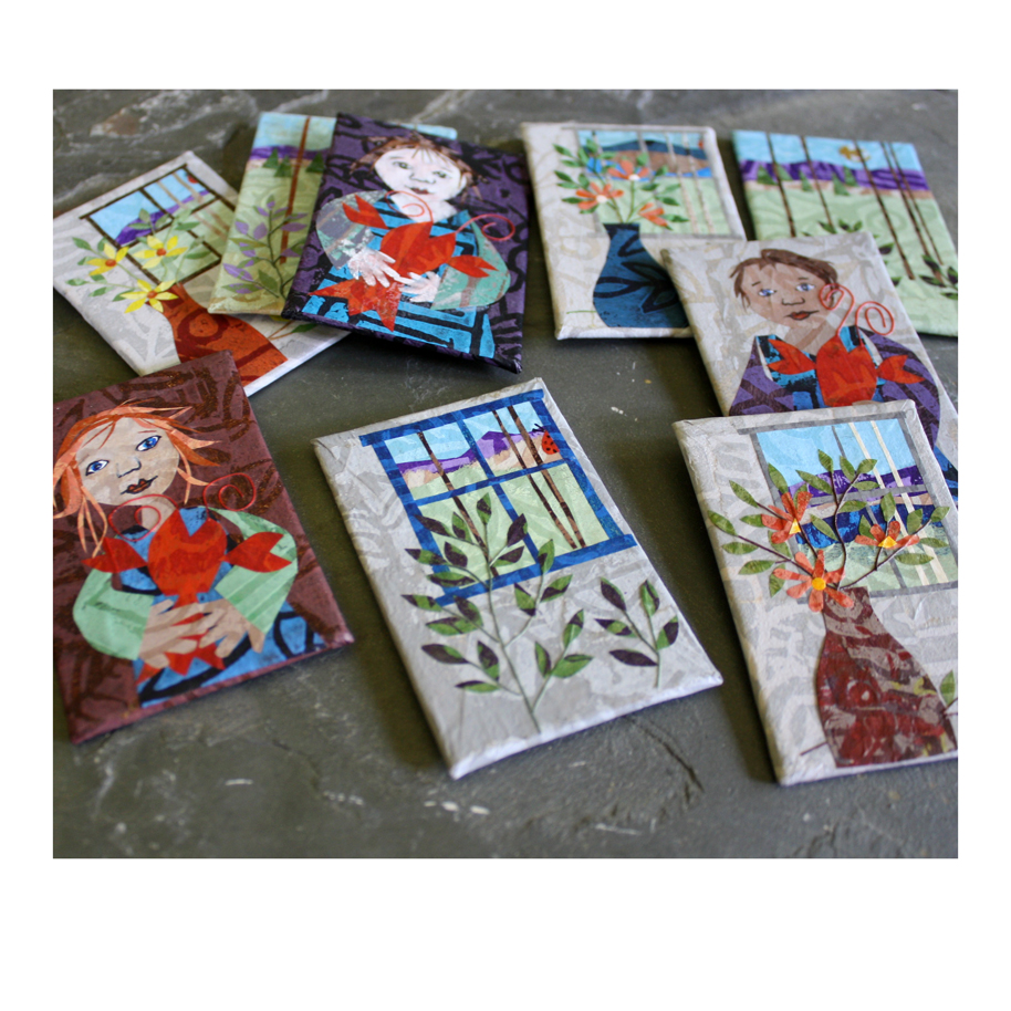 Refrigerator magnet art collages available through my Etsy Shop. 20% off today through October 7, 2017. Applies to US (Domestic) and International orders alike.