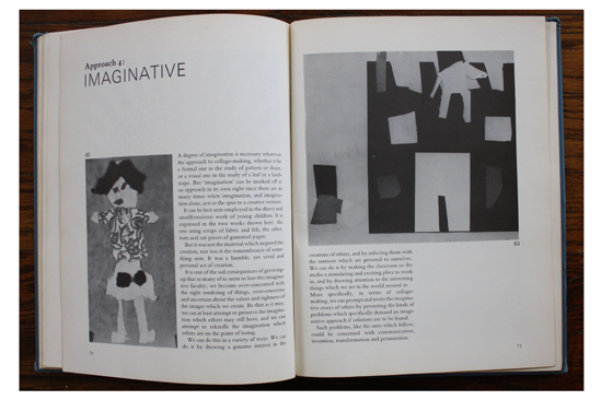 Book pages from Approach Four: Imaginative in Approaches to Collage