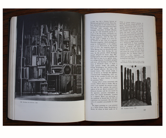 Left: Sky Cathedral (1958) by Louise Nevelson; Right: Totems (1959) by Louise Nevelson in Collage: Personalities, Concepts, Techniques
