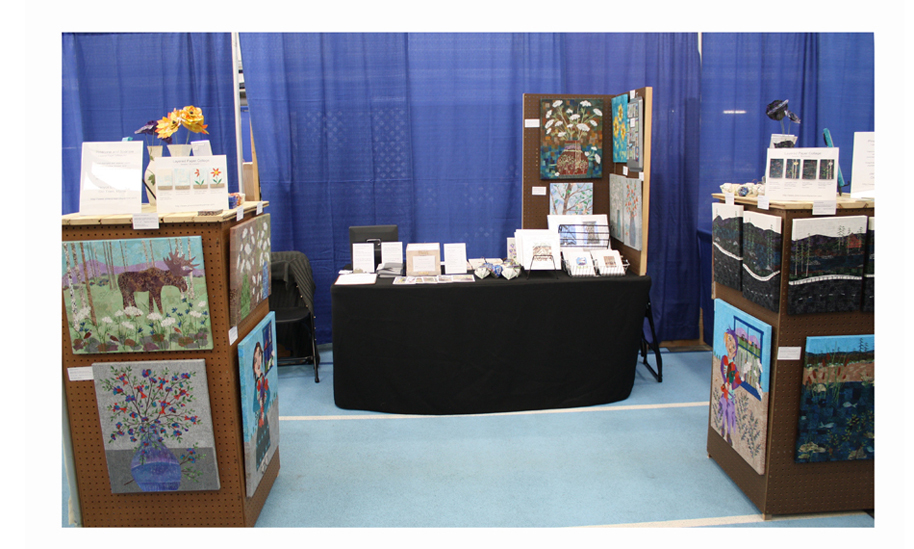 Pinecone and Sparrow Booth Display at the 2016 UMaine Craft Fair