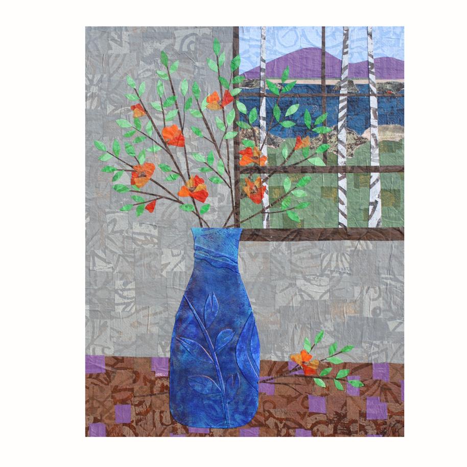 Orange Blooms 2 - Layered Paper Collage