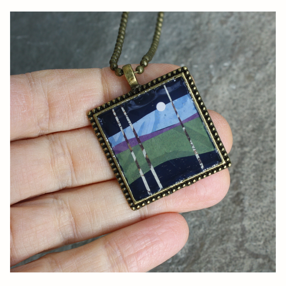 Collage Pendant Necklace
