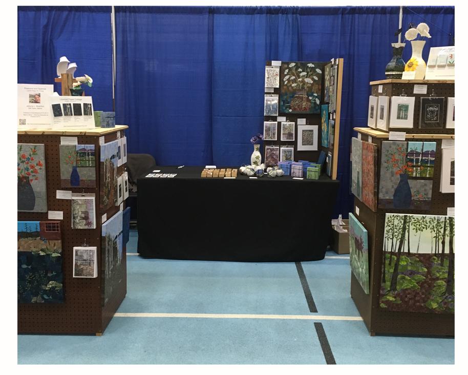 Pinecone and Sparrow Booth Display. UMaine Alumni Association Craft Fair (2017).