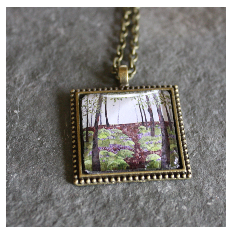 Forest Path Pendant Necklace. Available  here .