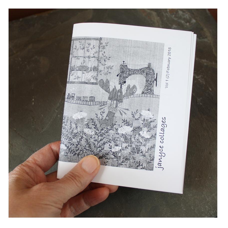 Janyce Collages Zine 2 - Juxtaposition Edition. Work in Progress