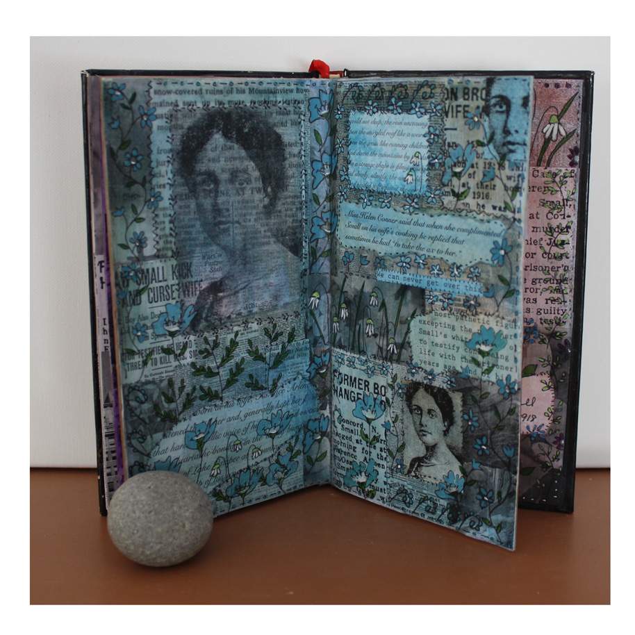 In Honor of Florence Arlene Small. (2018). Altered book work in progress.