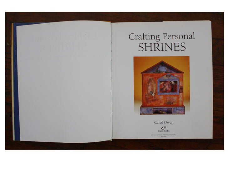 Title page of  Crafting Personal Shrines  by Carol Owen.