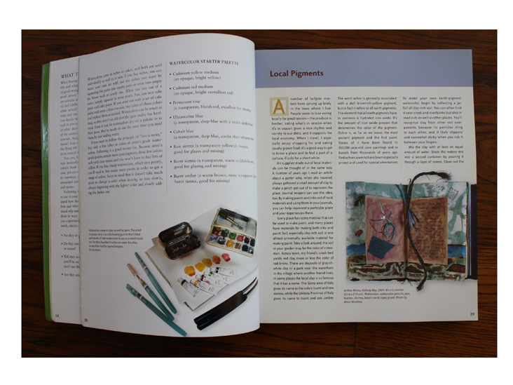 Local Pigmants page in The Complete Decorated Journal.