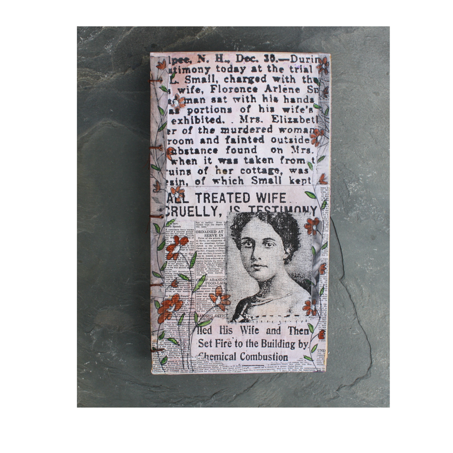 In Honor of Florence Arlene Small. (2018). Altered book cover.