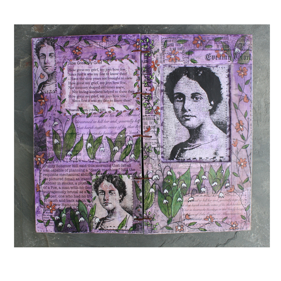 In Honor of Florence Arlene Small. (2018). Altered book pages.