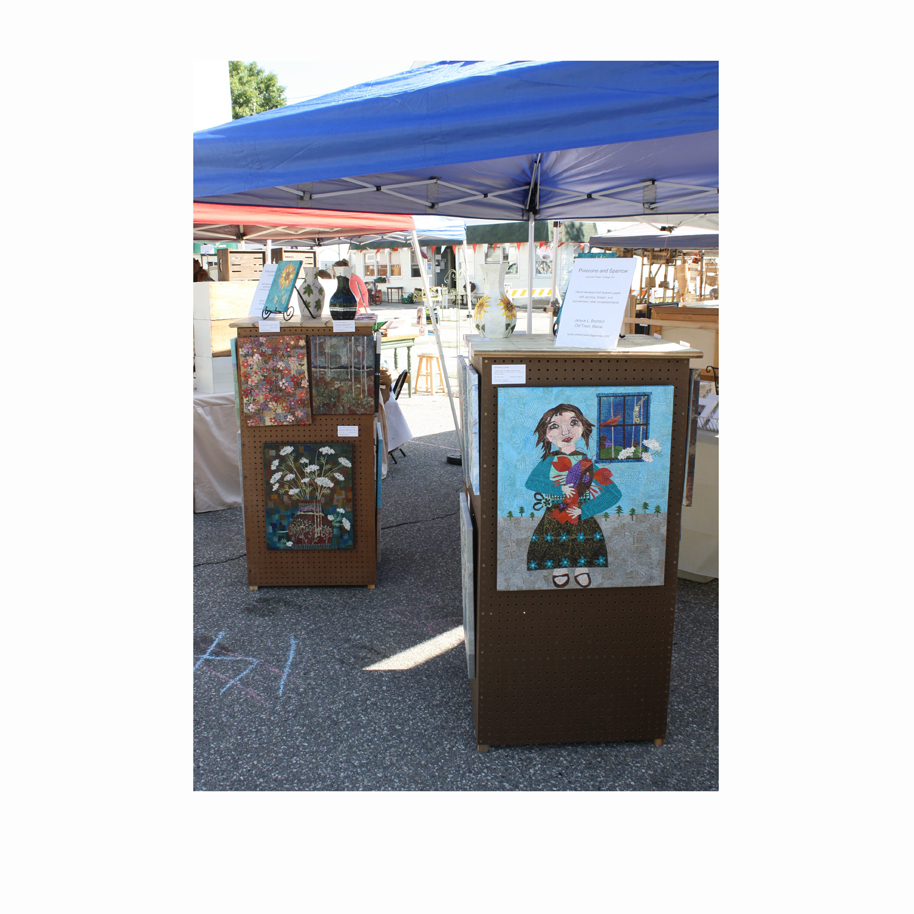 Pinecone and Sparrow Booth Display at the 2016 Winthrop Sidewalk Art Festival