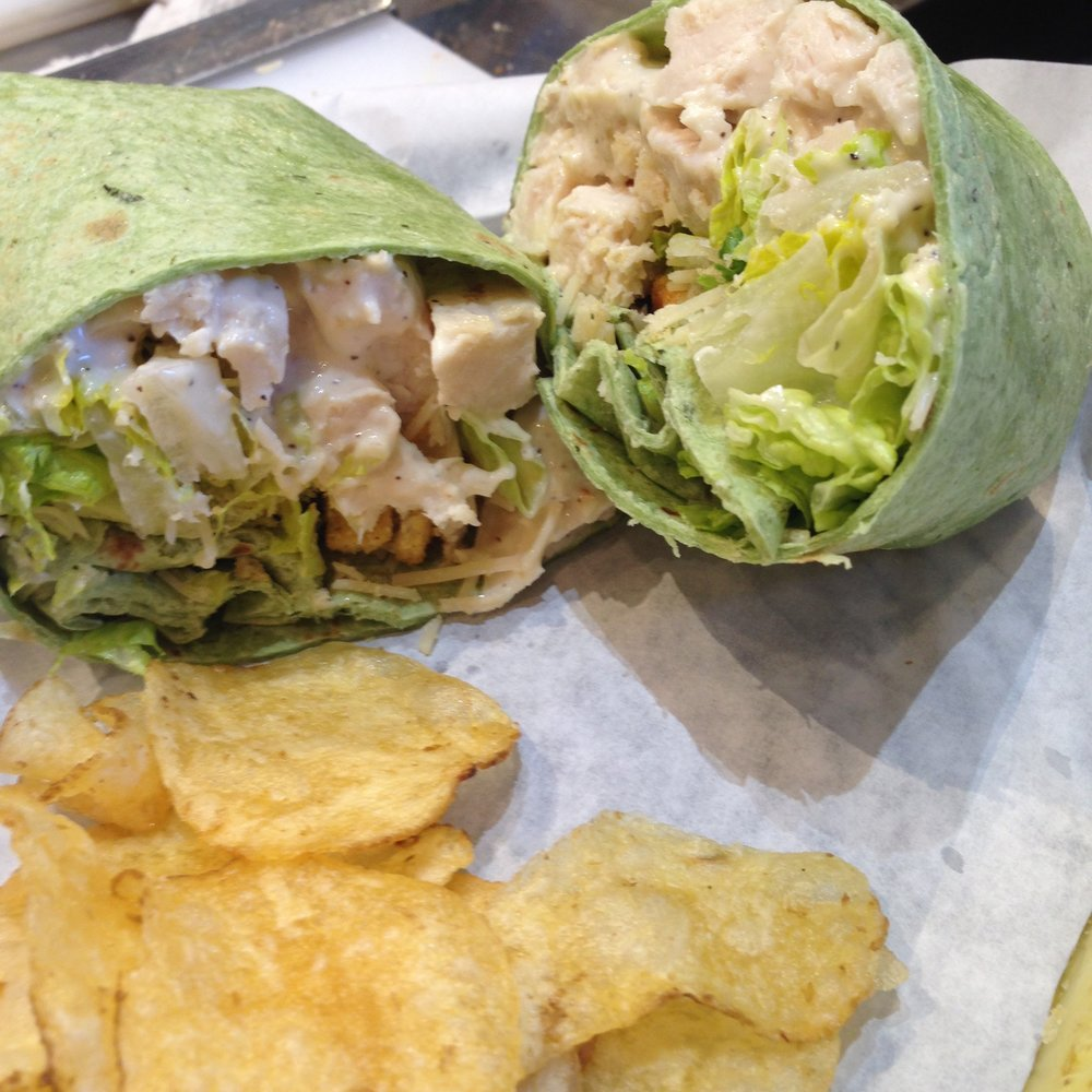 Chicken Caesar Wrap.