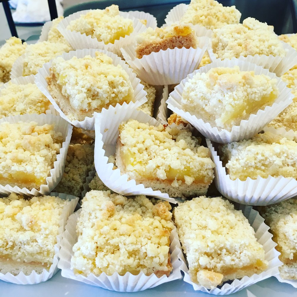 Lemon Bar Bites (see trays above)