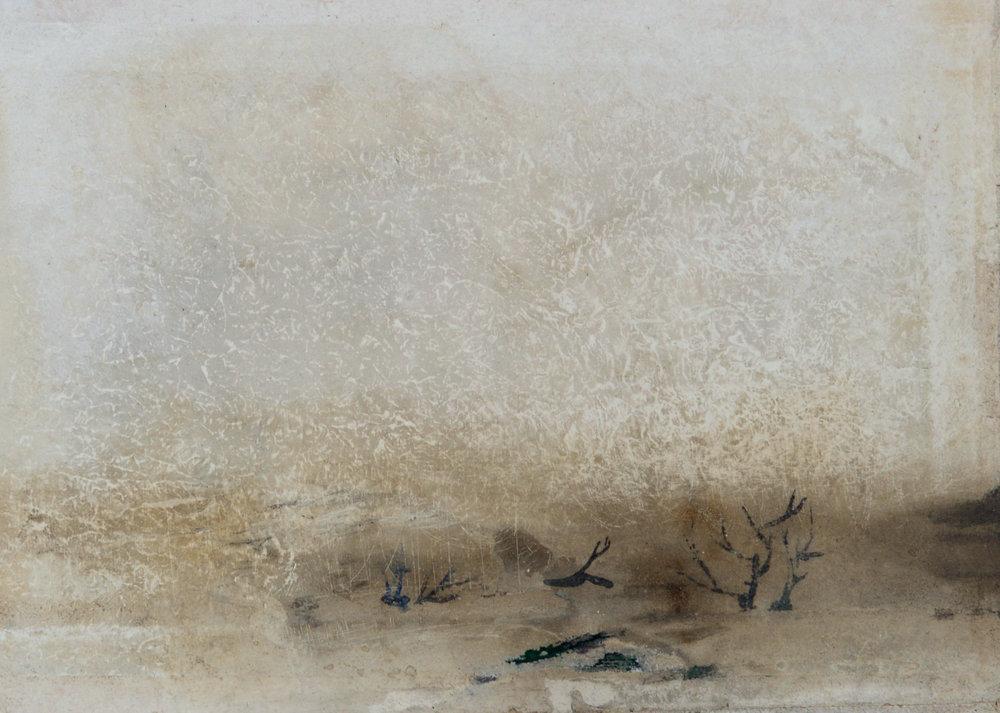 in winter 03/17 6 x 4 inches, paper board