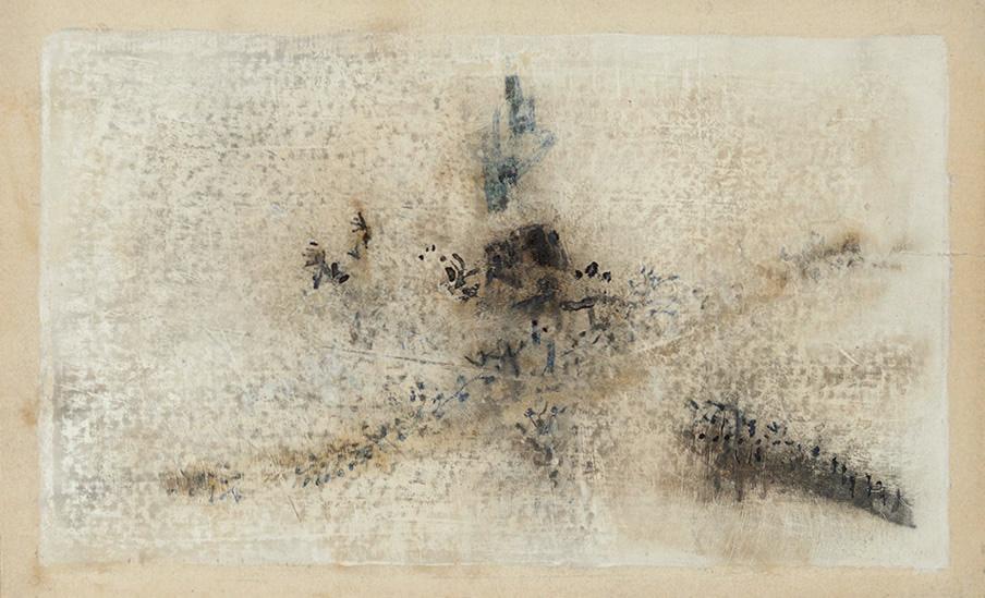 In dem nachdenklichen vorgefühl künftigen heimwehs 03/17 8.5 x 5.5 inches, paper board