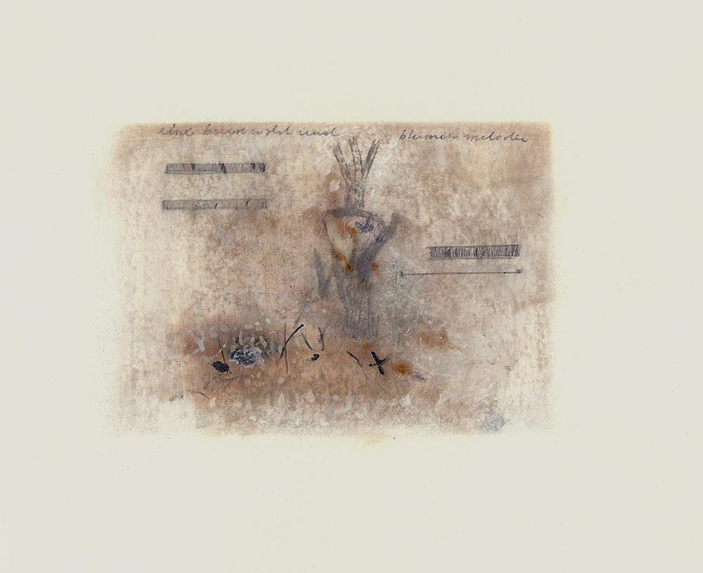 eine baum wald und blumen melodie 03/16 11 x 8.5 inches, paper