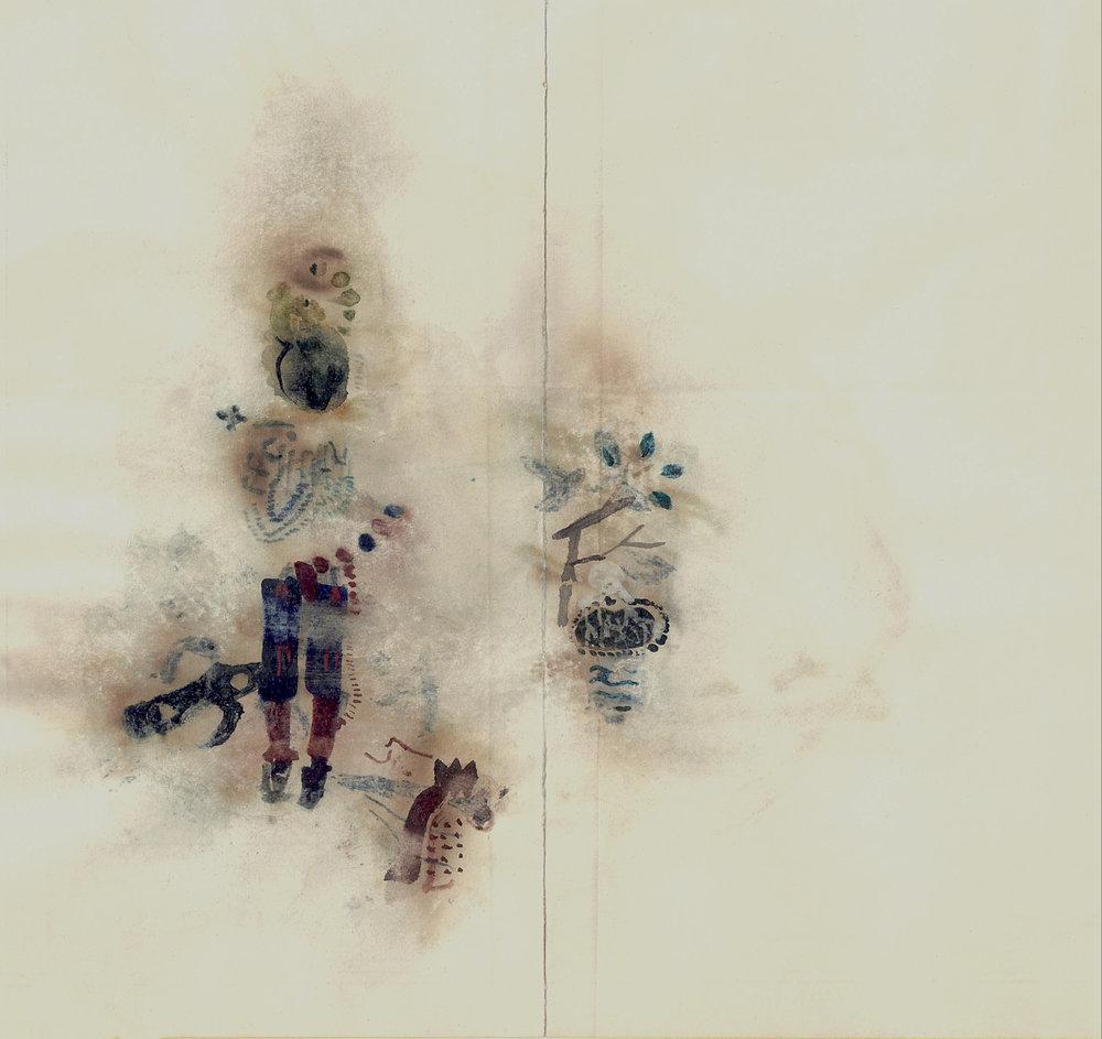 kindheitsheilige / childhood saints 05/17 6.5 x 8 inches, paper