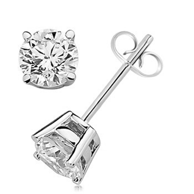 9f6e02a28 Diamond Solitaire Stud Earrings 0.30ct — Gemwaith R T Jewellery