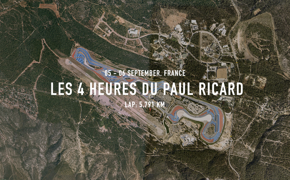 The host of many prestigious motor racing events in the 1970s and 80s, the iconic Circuit Paul Ricard spent many years consigned to the testing and development calendar. Totally renovated at the turn of the millennium the circuit is notable for its long back-straight and distinctive black, blue and red run-off areas. France's rich endurance racing heritage lives on thanks to this great track.       2760 Route des Hauts du Camp 83330 Le Castellet France    Email      W     ebsite