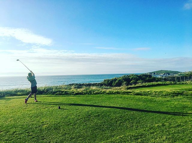 Fun round this evening! #sun #sunny #sunshine #sunset #sea #seaside #beach #beaches #sand #surf #surfer #surfers #surfing #golf #golfer #golfing #driver #taylormade #m1 #newquay #cornwall #kernow #summer #summertime