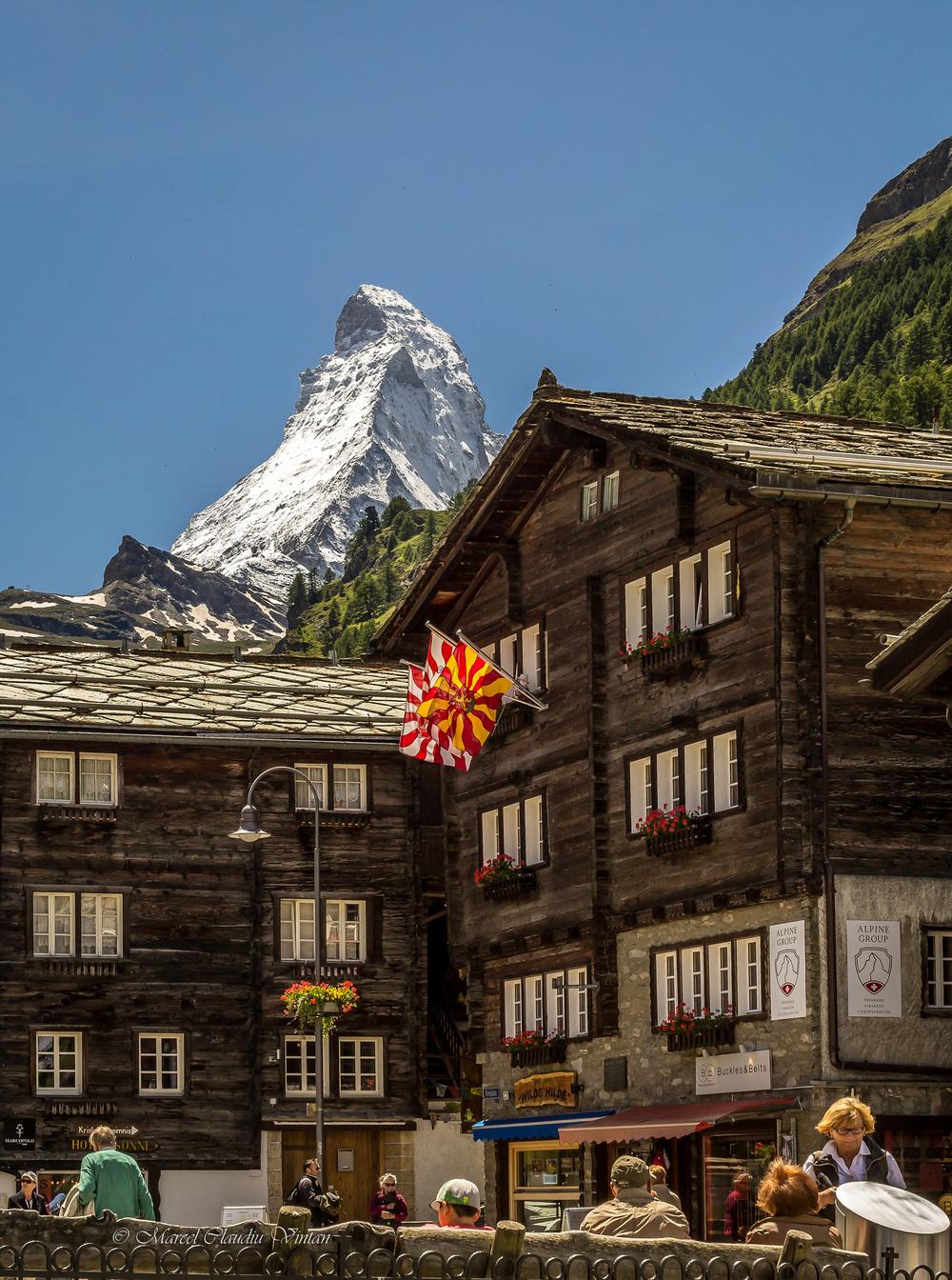 Matterhorn vazut din Zermatt