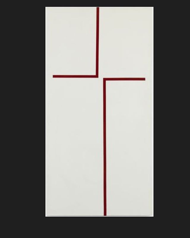 """I never met a straight line I did not like."" -Carmen Herrera ('The Way' - 1970)"