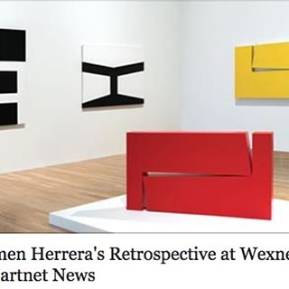 "Wexner Center for the Arts in Columbus, Ohio, is the only venue after NYC's Whitney Museum to exhibit Carmen Herrera's retrospective, ""Lines of Sight"". Take a road trip and see the exhibit through April 16th!  http://artnt.cm/2negm9x"