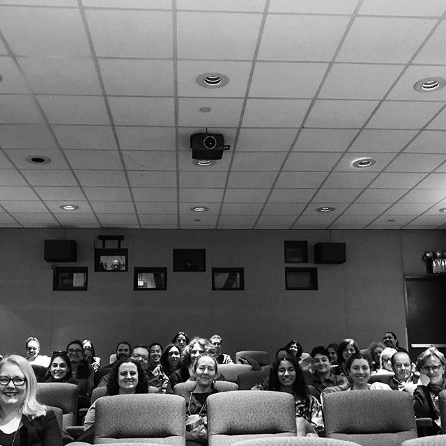 "We couldn't fit everyone in this photo, but thanks to the enthusiastic audience that came out last night to talk about Carmen's story, inclusion in the art world, ""coming into your own"" and other wonderful discussion topics with director @aliklay, writer Leslie Camhi and curator Karen Jones for the Pembroke Center and @brownu"