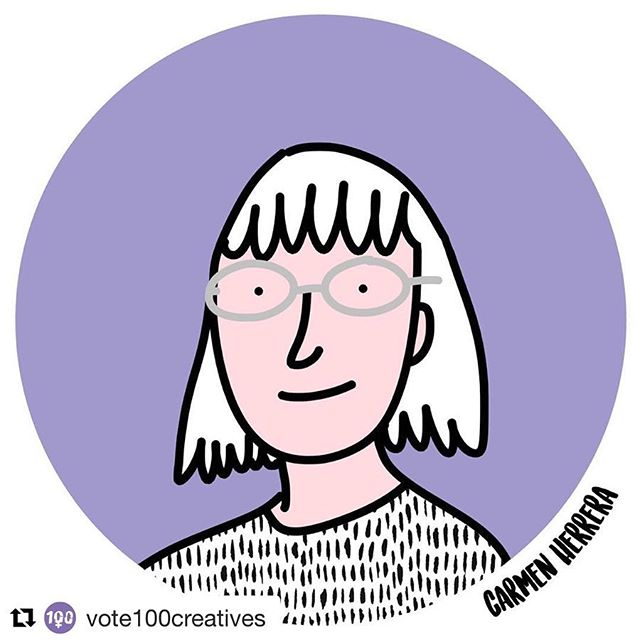 "#Repost Thanks @vote100creatives for adding Carmen Herrera to your Vote 100 list – celebrating women's vote centenary with 100 women creatives. ""Her bold, unapologetically minimalist and oh so striking artworks are hard to miss. Being a master of colour and crisp lines her quest is ""for the simplest of pictorial resolutions"". This amazing woman turned 100 in 2015, thanks for the inspiration Carmen. #carmenherrera #vote100creatives"""