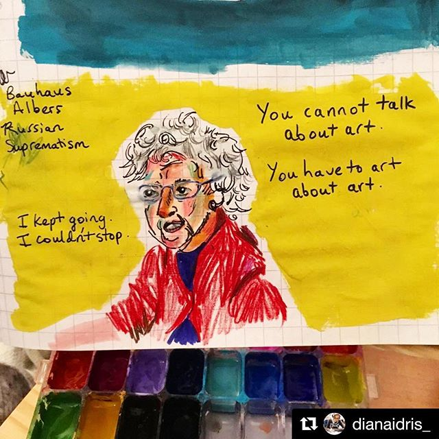 "We ❤️ #carmenherrera fan art! Because of course: ""you cannot talk about art, you have to art about art."" Thank you and nice work @dianaidris_"