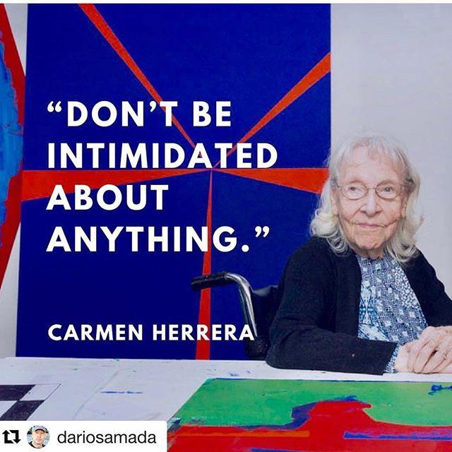 #Repost @dariosamada ・・・ Carmen Herrera #carmenherrera #cubanartist #newyork #livingwithart