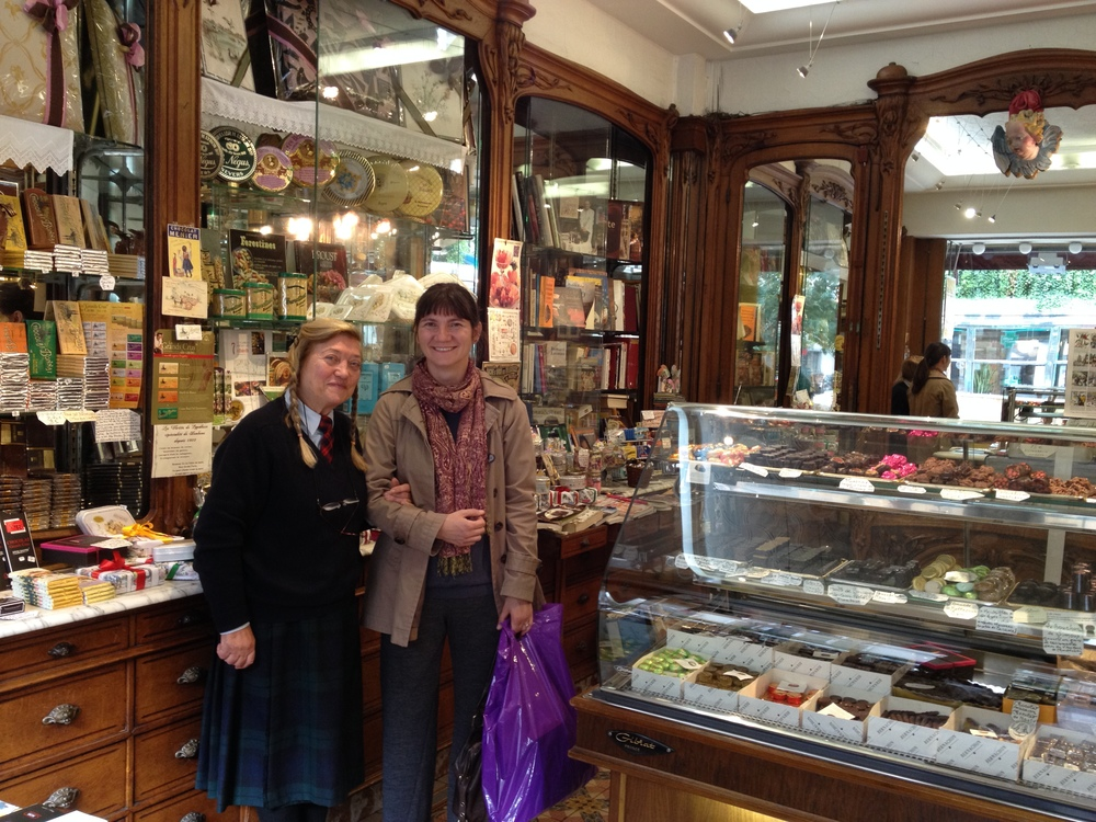 With Denise Acabo, inside her legendary Parisian confectionery and chocolate shop A l'Etoile d'Or (Paris, 2013)