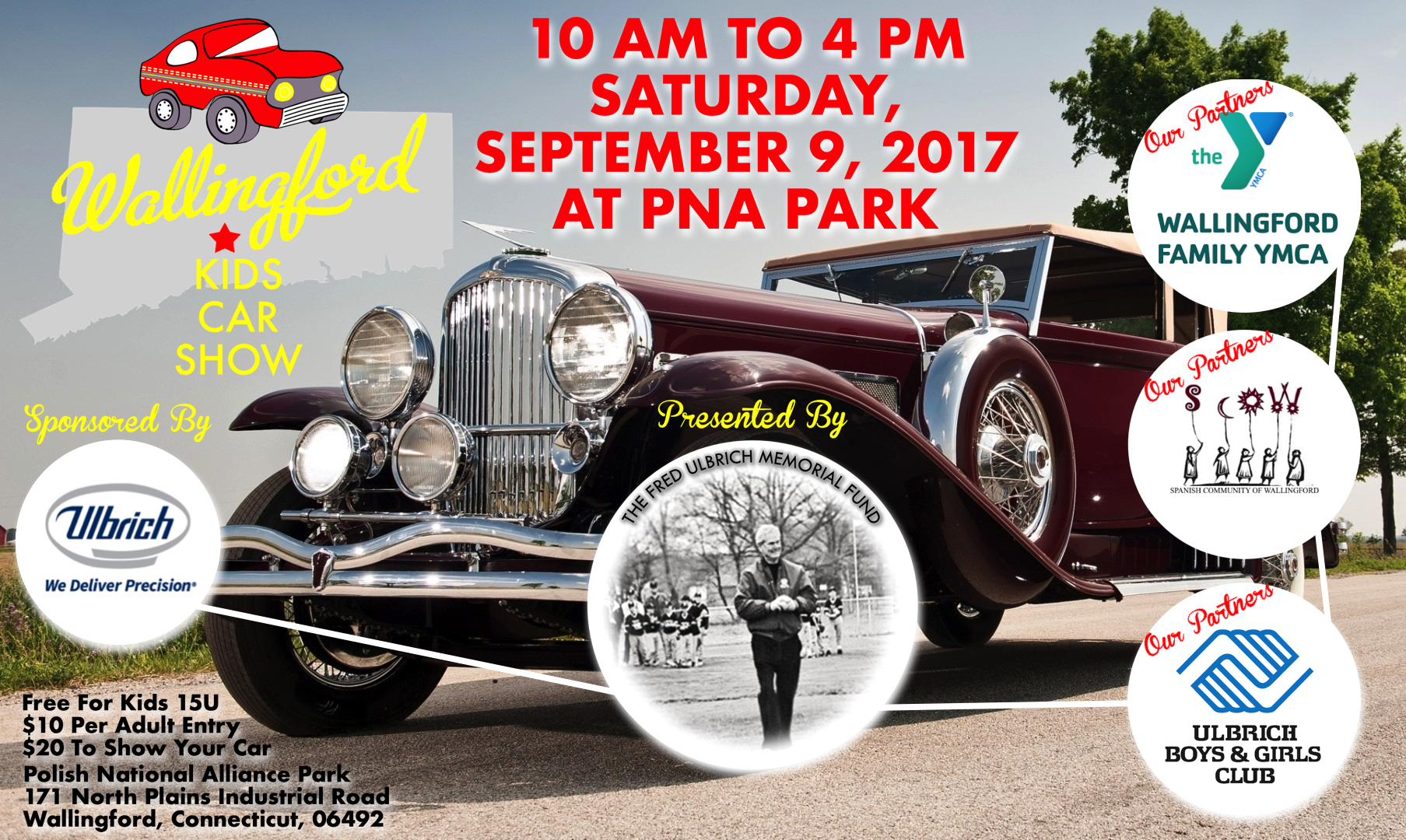 Wallingford Kids Car Show The Fred Ulbrich Memorial Fund - Show your car