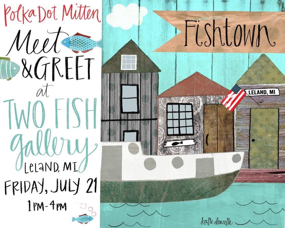 Polka Dot Mitten Meet & Greet at Two Fish Gallery