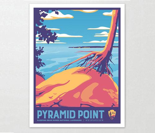 Pyramid Point Michigan Art Print 11x14 Two Fish Gallery