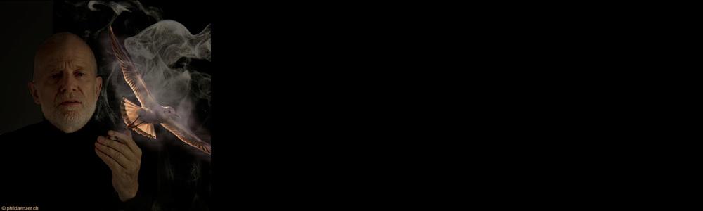 Phil Dänzer - Selbstportrait mit Möwe, 2014