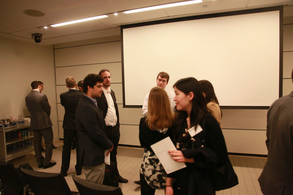 After Presentation Mingling