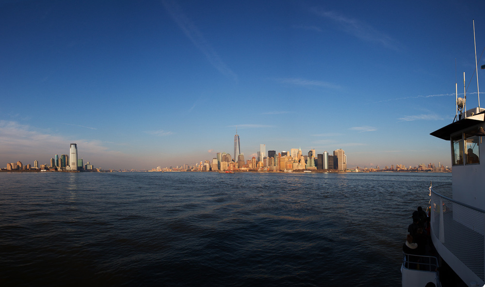 Panorama of New York with Boat