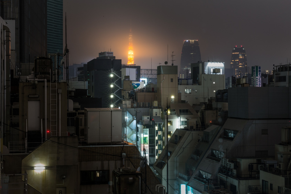 Tokyo Tower in the Fog