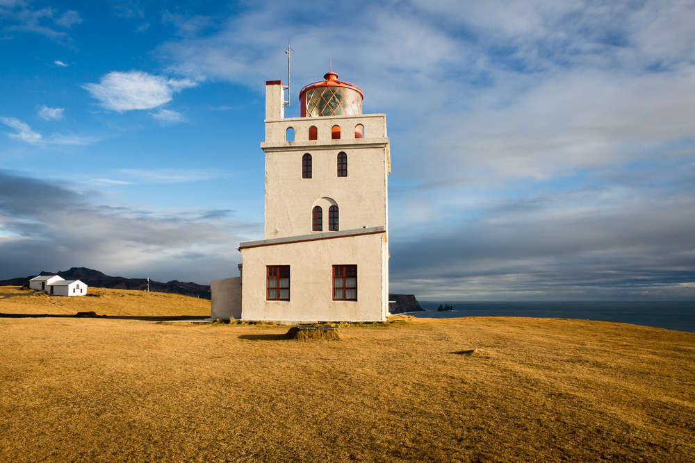 The Dyrhólaey Lighthouse in Iceland