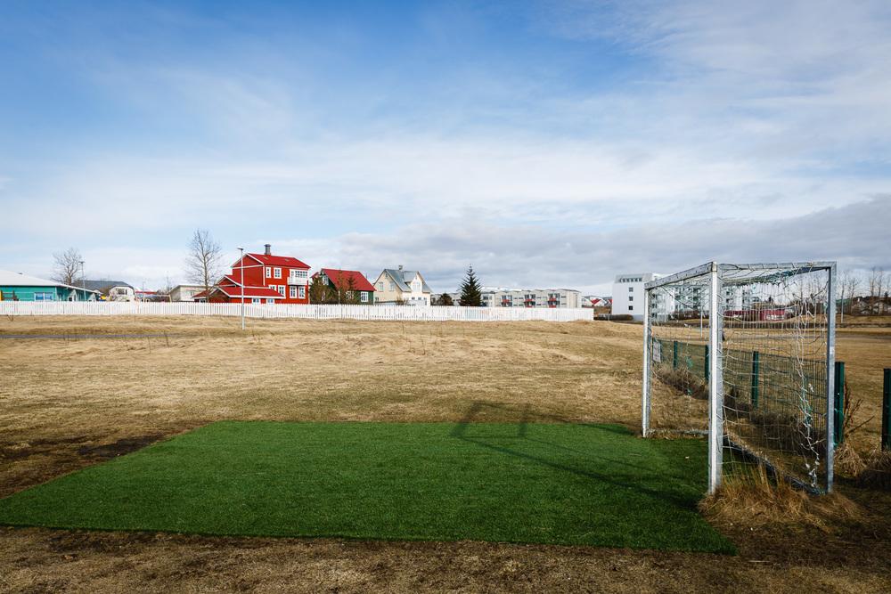 Soccer Field near Reykjavik, Iceland