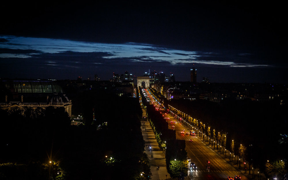 Champs-Élysées at Night in Paris