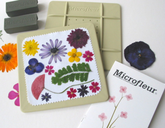 Microfleur microwave flower press